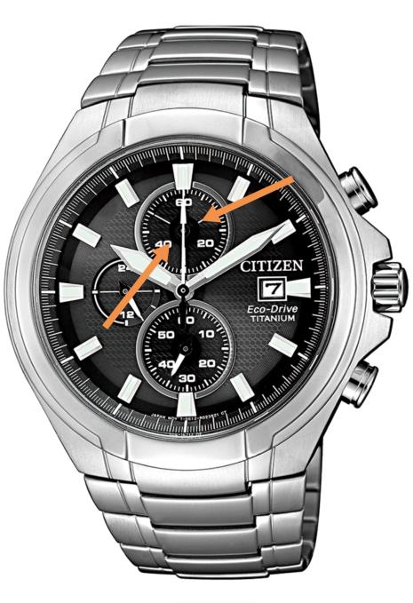 Cronografo de reloj citizen solar Super Titanio