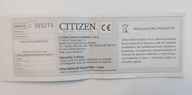 garantía citizen españa 2 años