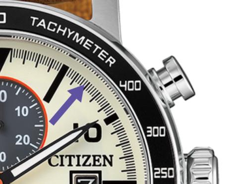 División Del los Segundos Del citizen eco drive chronograph
